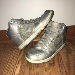 Nike Silver Hightop